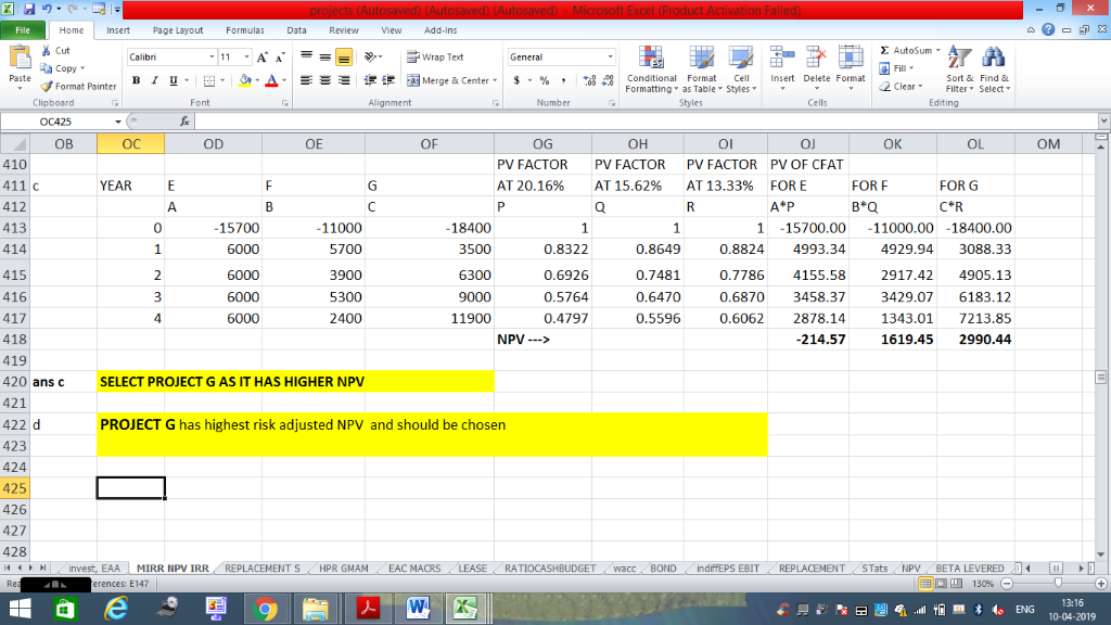 Home ert Page Layout Formulas Data Review V Add-Ins Cut Σ AutoSum , a copy ▼ Fill В า 프. m. a-Δ. Ξミ 迣锂函Merge & Center. $, % ,