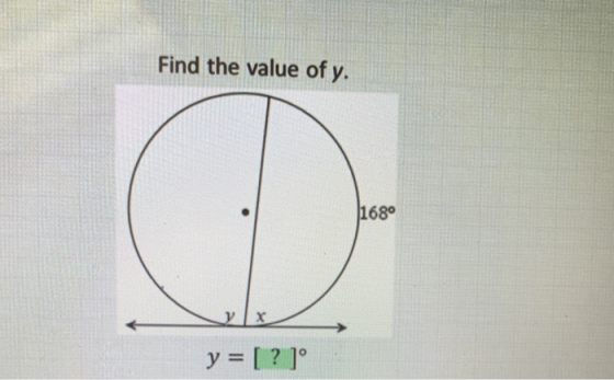 Find the value of y. 680