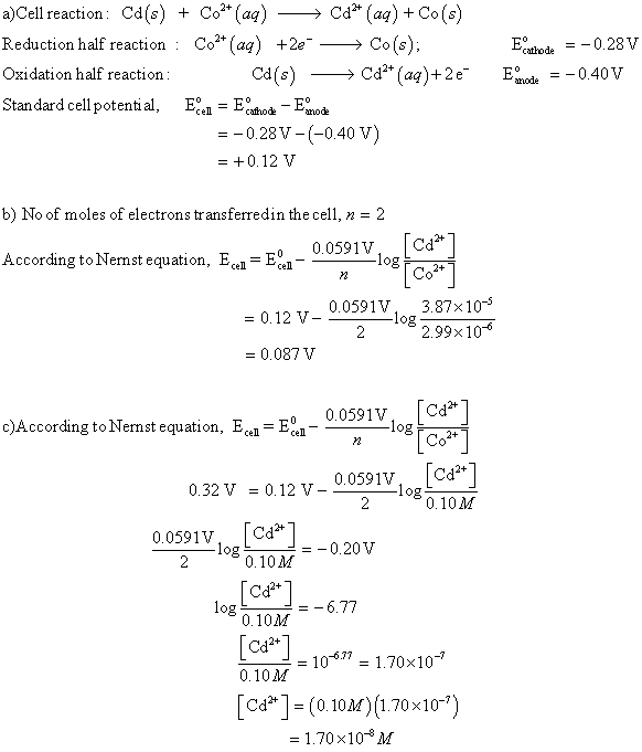 A Use The Standard Reduction Potentials At 25 C In Table