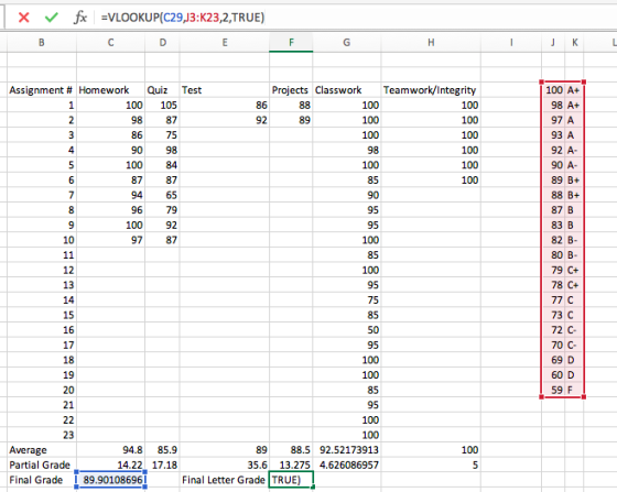 microsoft excel question i m having trouble using the vlookup function i have calculated a final numerical homeworklib microsoft excel question i m having