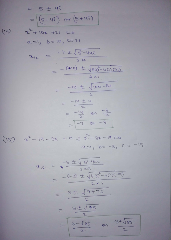 Use The quadratic Formula To Find The Exact solutions. 12