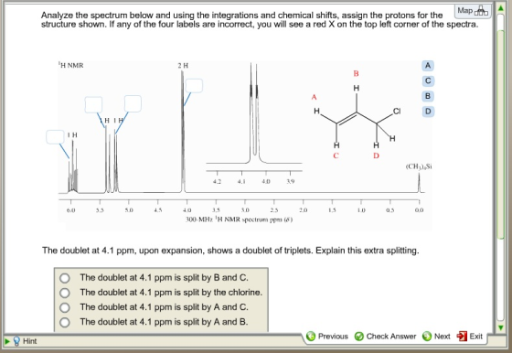 Analyze The Spectrum Below And Using The Integrations And Chemical