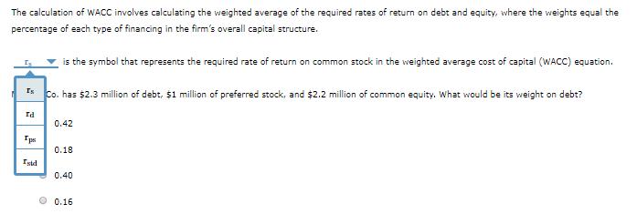 common stock equation