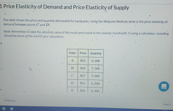 1 Price Elasticity Of Demand And Price Elasticity Of Supply The