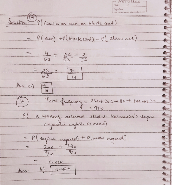 find the indicated probability a card is drawn from a