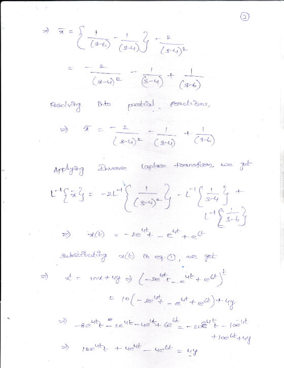 (1 point) Use the Laplace transform to solve the following