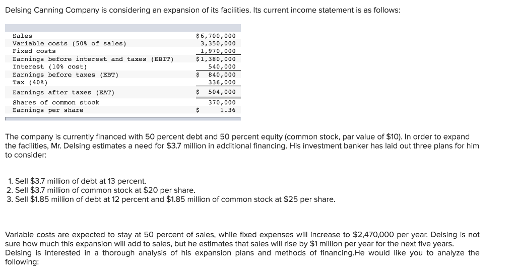 earnings per share income statement