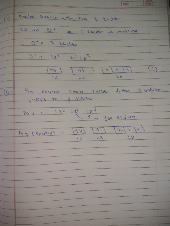 Which Of The Orbital Diagrams Represent S  The Ground State Electron Configuration Of An Oxygen