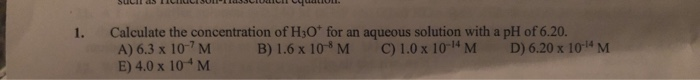 What Is The Concentration Of Hydroxide Ions In PH= 5.0
