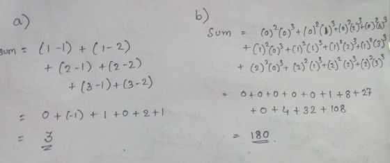 For Discrete Math: Q4: Find values of these sums