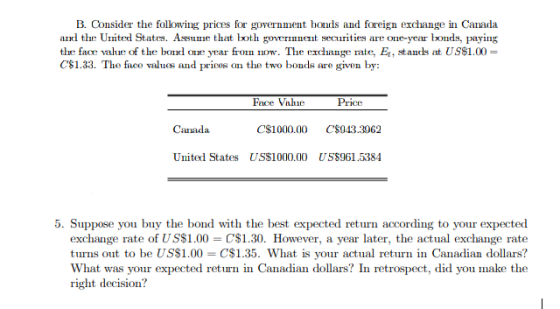 Prices For Government Bonds