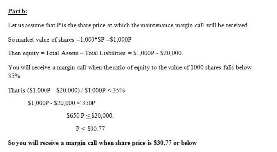 You've borrowed $20,000 on margin to buy shares in Disney ...