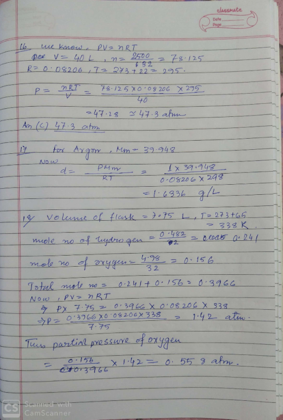 will be exene 16. Gases are sold in large cylinders for ...