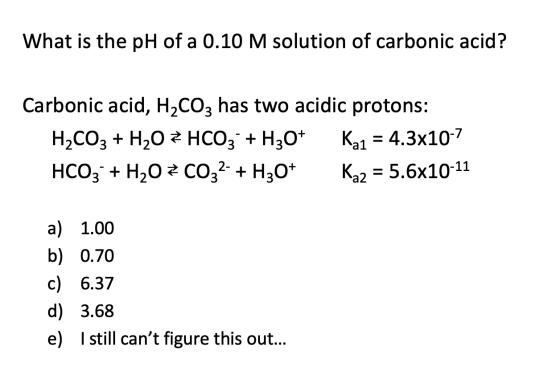 H2co3 H2CO3 (Carbonic