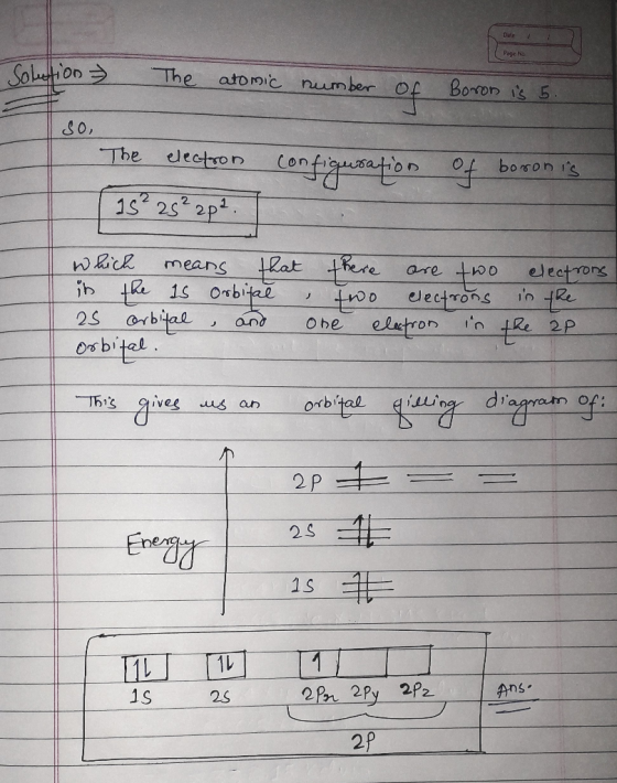 Review I Constants I Periodic Table Learning Goal  Complete An Orbital Diagram For Boron  To