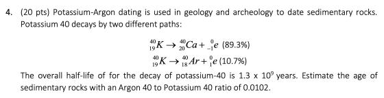 Half potassium life dating argon Unreliability of