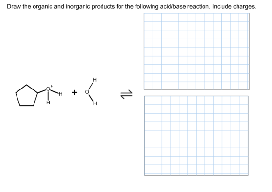 Draw the inorganic and inorganic products for the ...